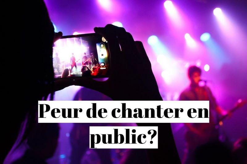 Comment vaincre la peur de chanter en public(phobie) ?